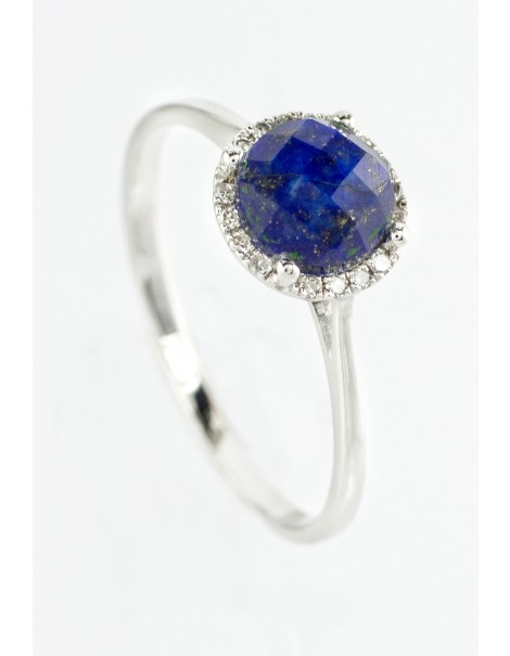 Lapis & Diamond Ring