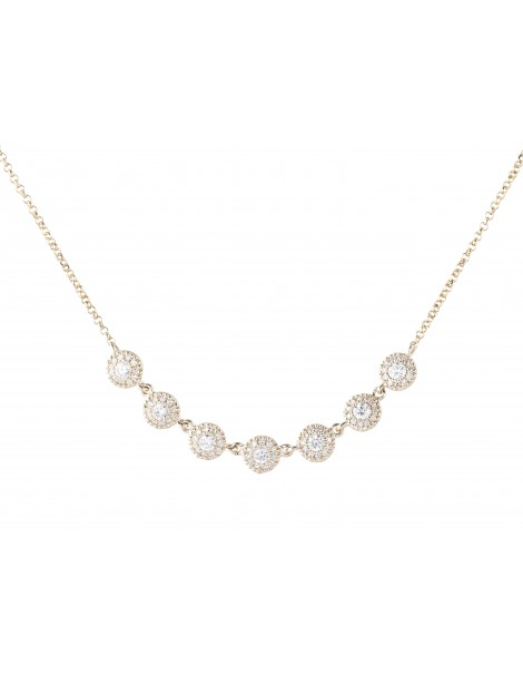 Yellow Gold Diamond Necklace