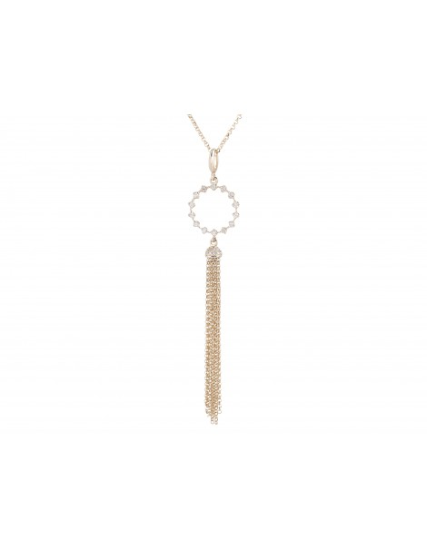 Yellow Gold Diamond Dangle Necklace