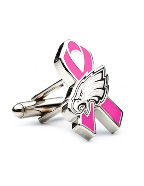 Philadelphia Eagles Cancer Awareness Cufflinks