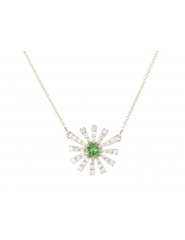 Yellow Gold Tsavorite and Diamond Pendant