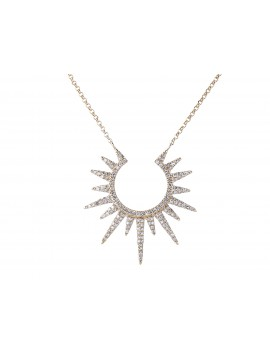 Yellow Gold Diamon Fashion Necklace