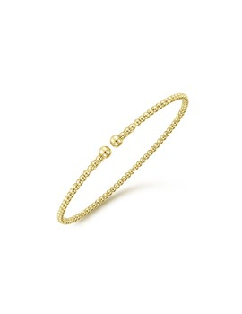 14k Yellow Gold Open Bangle Bracelet