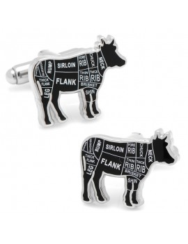 Beef Butcher Cuts Cufflinks