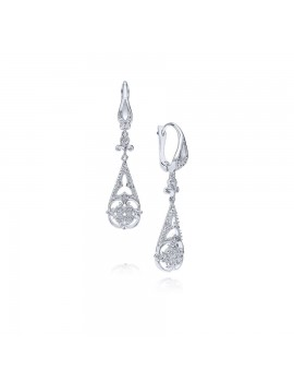 Vintage Inspired Diamond Earrings Dangle
