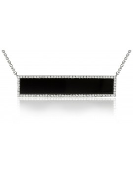 Black Onyx Bar Necklace
