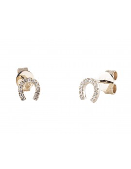 Diamond Earrings Lucky Horseshoe