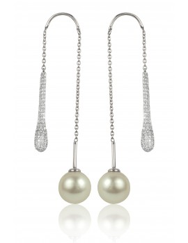 Pearl and Diamond Earrings