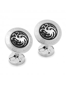 Targaryen Filigree Stainless Steel Cufflinks from Game of Thrones